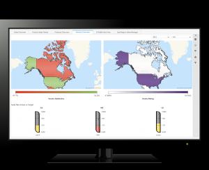 SAS data dashboard - geo chart
