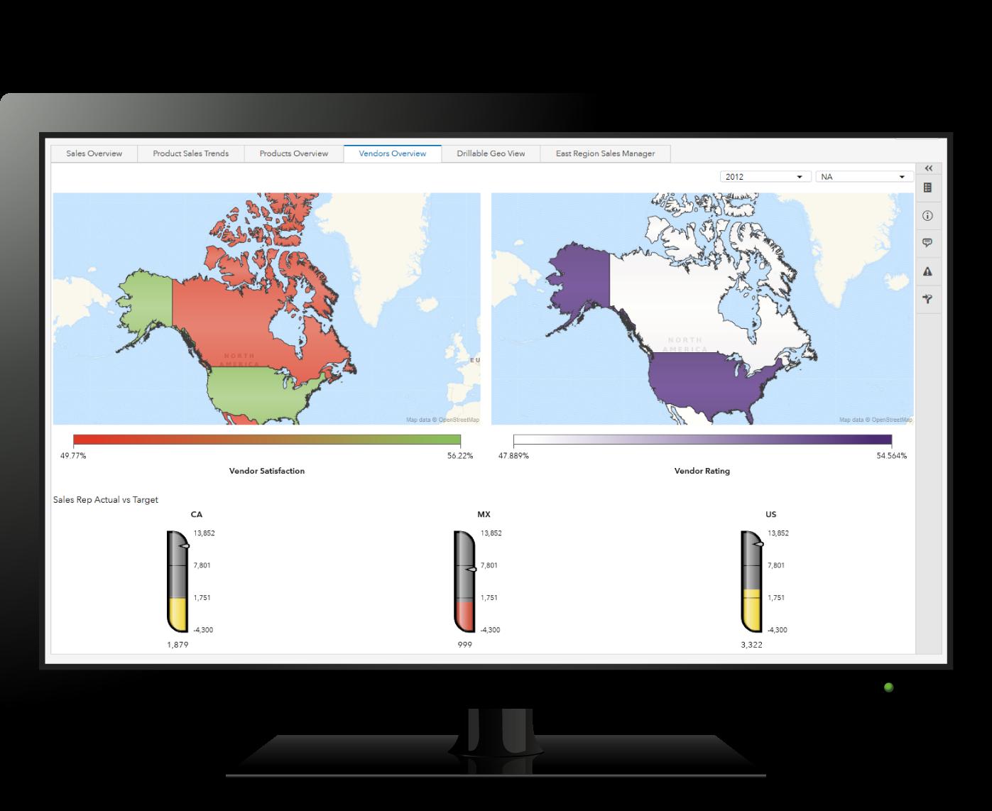 Computer showing SAS Analytics