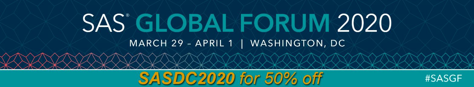SAS Global Forum Promo Code